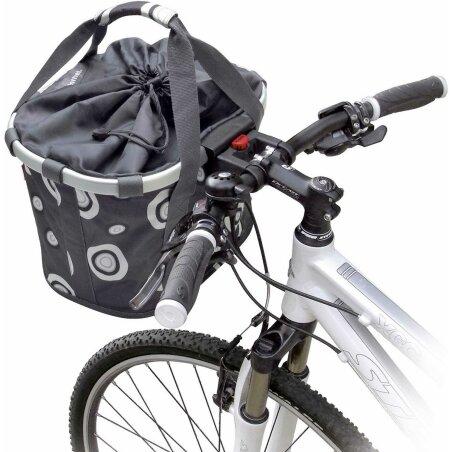 KLICKfix Reisenthel Bikebasket Lenkertasche mit Aluminumrahmen Bubbles-anthracite