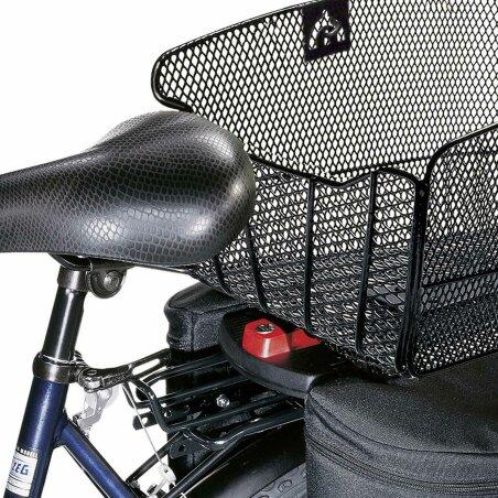 KLICKfix Citymax Hinterradkorb für GTA schwarz fein