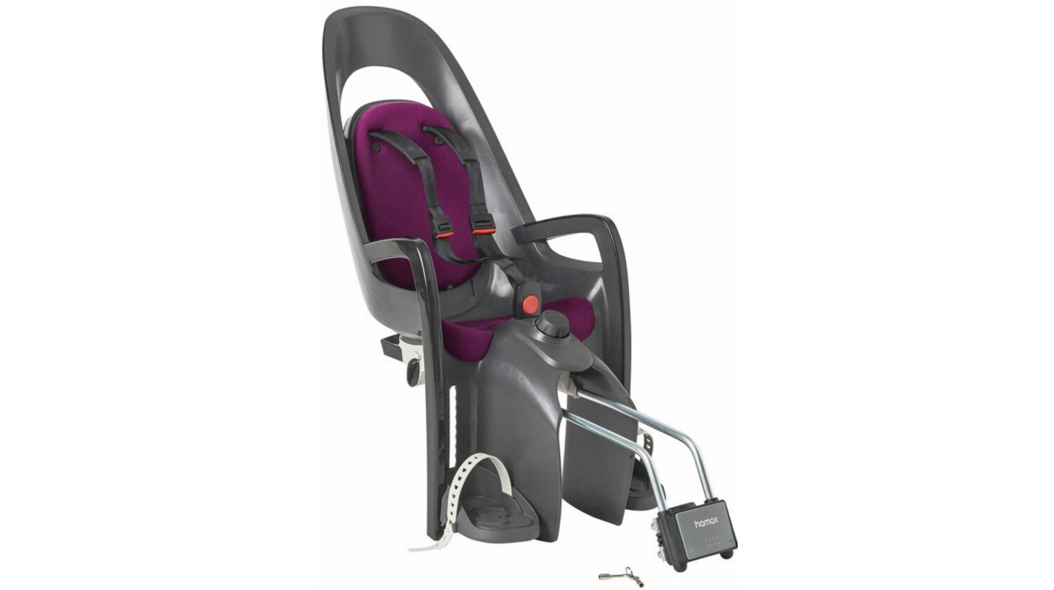 Hamax Caress Kindersitz grau/dkl. grau/purple