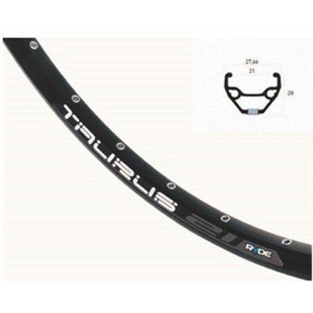 Laufrad HR Rigida Taurus 21 Disc schwarz + Shimano RM475...