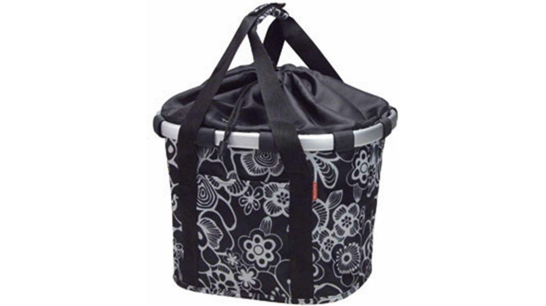 KLICKfix Reisenthel Bikebasket Lenkertasche mit Aluminumrahmen Fleur-schwarz