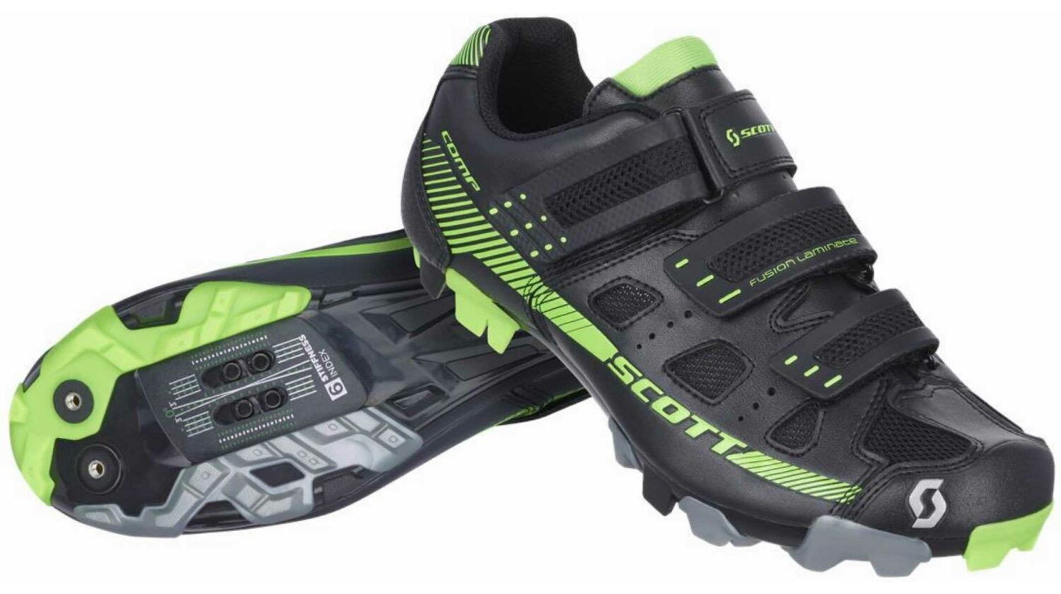 Scott MTB Comp Schuh black/neon green 44