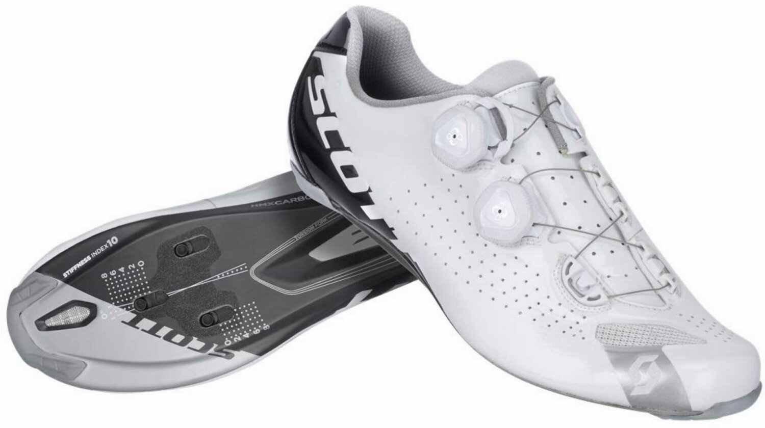 Scott Road RC Schuh white/black gloss 48