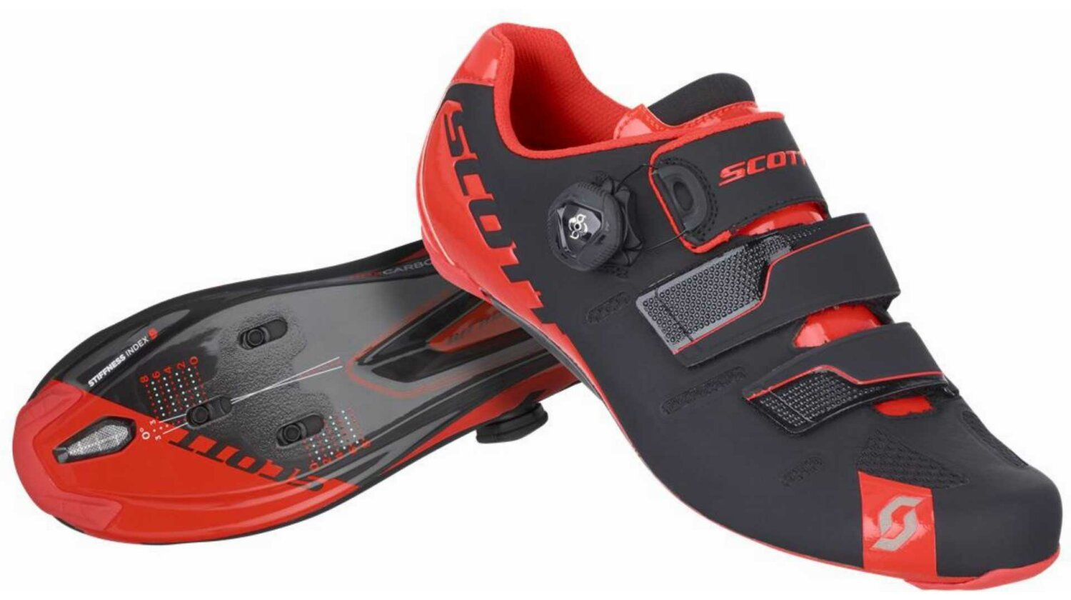 Scott Road Premium Schuh black/neon red gloss 42