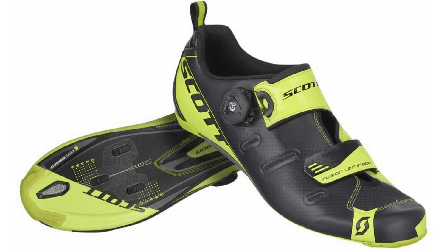 Scott Tri Carbon Schuh black/neon yellow 44