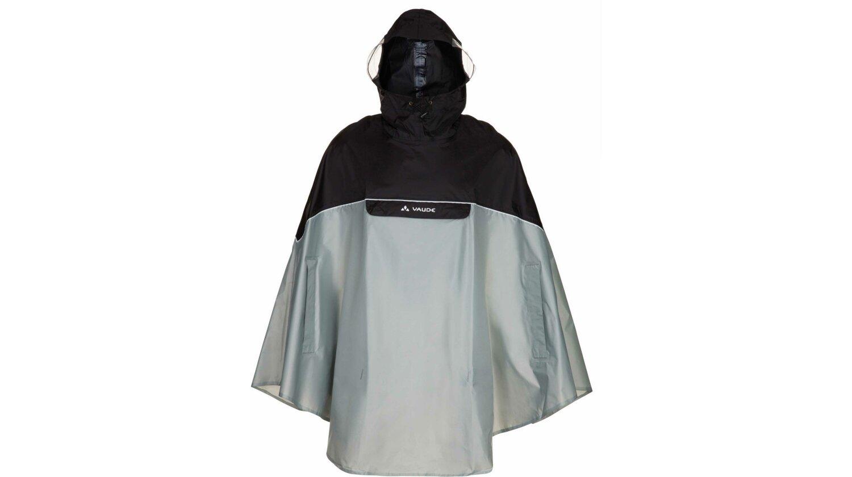 VAUDE Covero Poncho II schwarz/grau M