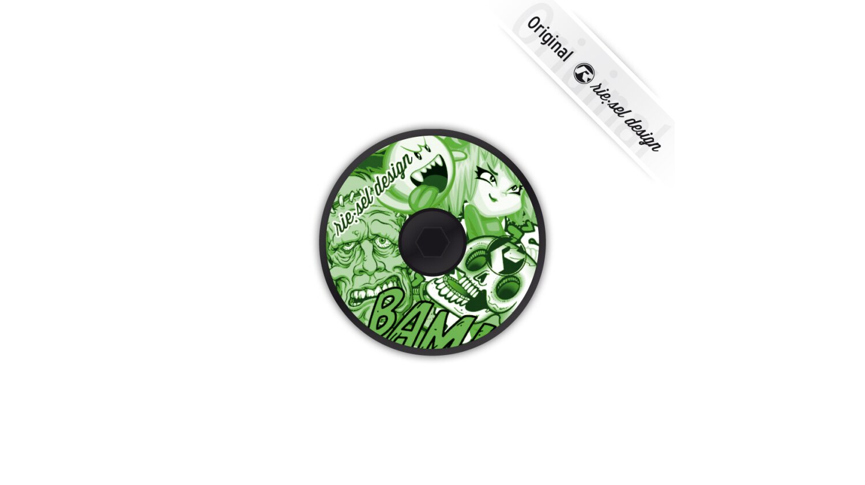 rie:sel deck:el A-Head-Plug Stickerbomb green