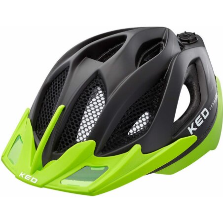 KED Spiri Two Helm black matt Visor green