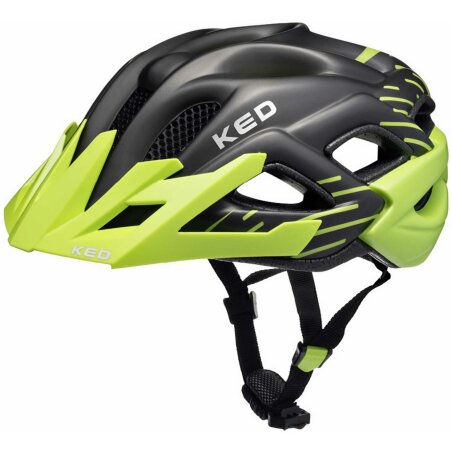 KED Status Junior Helm green black matt