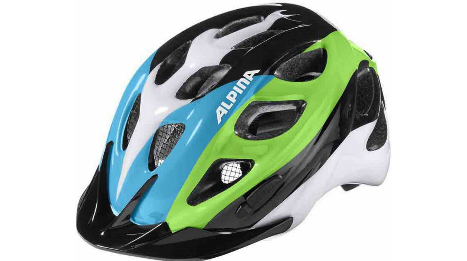Alpina Rocky Kinder-Helm black blue-green 47-52 cm