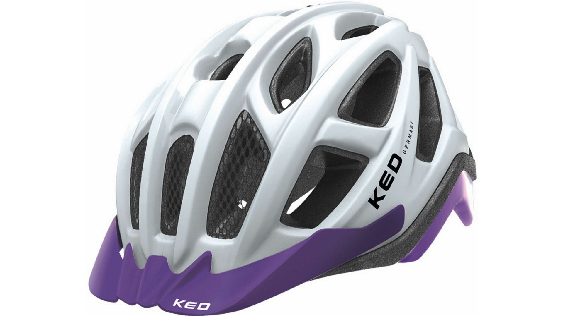 KED Pylos MTB Helm white violet