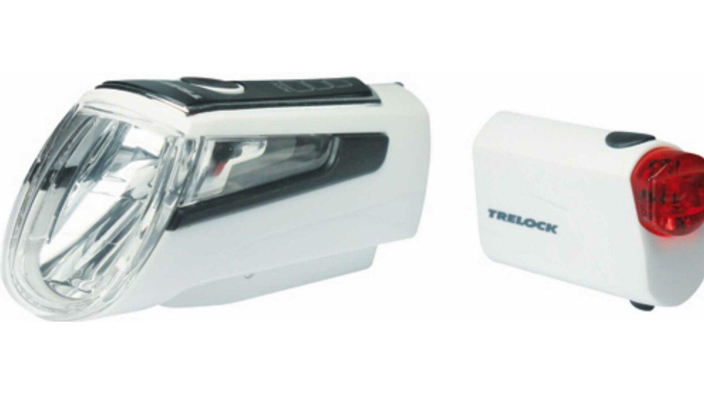 Trelock LS 560 I-GO® CONTROL + LS 720 Reggo Akku-Beleuchtungsset weiß