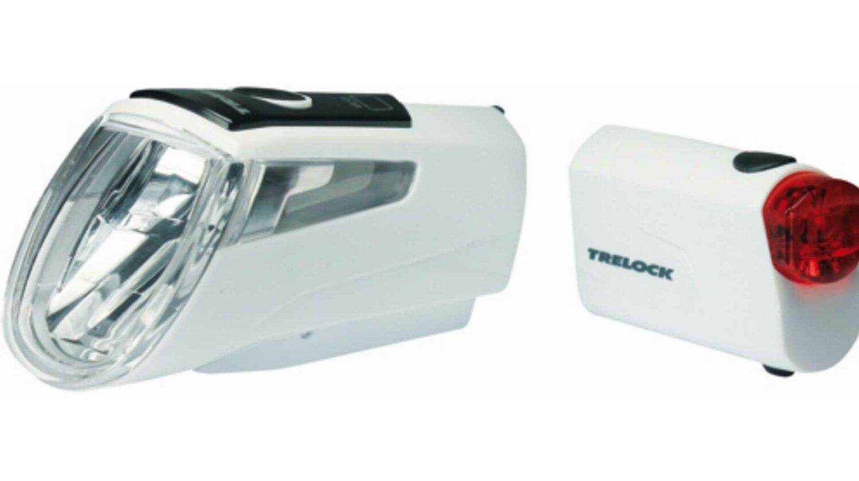 Trelock LS 460 I-GO® POWER + LS 720 Reggo Akku-Beleuchtungsset weiß