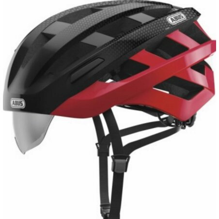 Abus In-Vizz Ascent Helm red comb