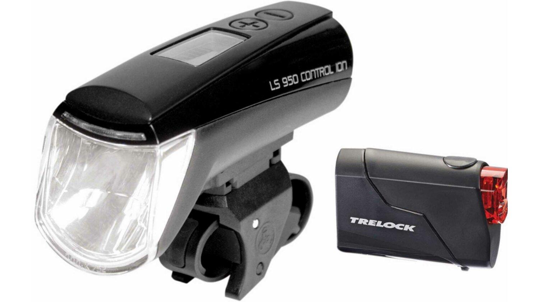 Trelock LS 950 CONTROL ION + LS 720 Reggo Akku-Beleuchtungsset schwarz