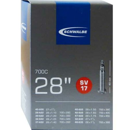"Schwalbe Nr.17 Schlauch 28"" SV 40mm"