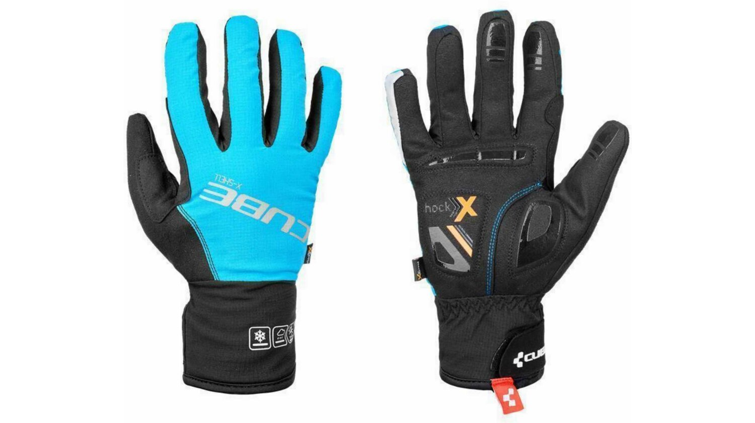 Cube Natural Fit Handschuhe X-Shell Langfinger blue´n´black