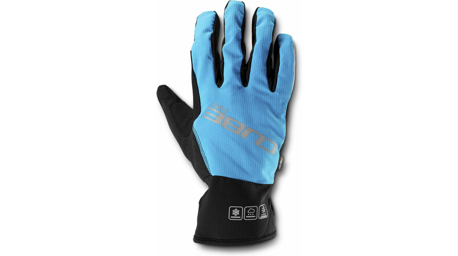Cube Natural Fit Handschuhe X-Shell Langfinger blue´n´black M (8)