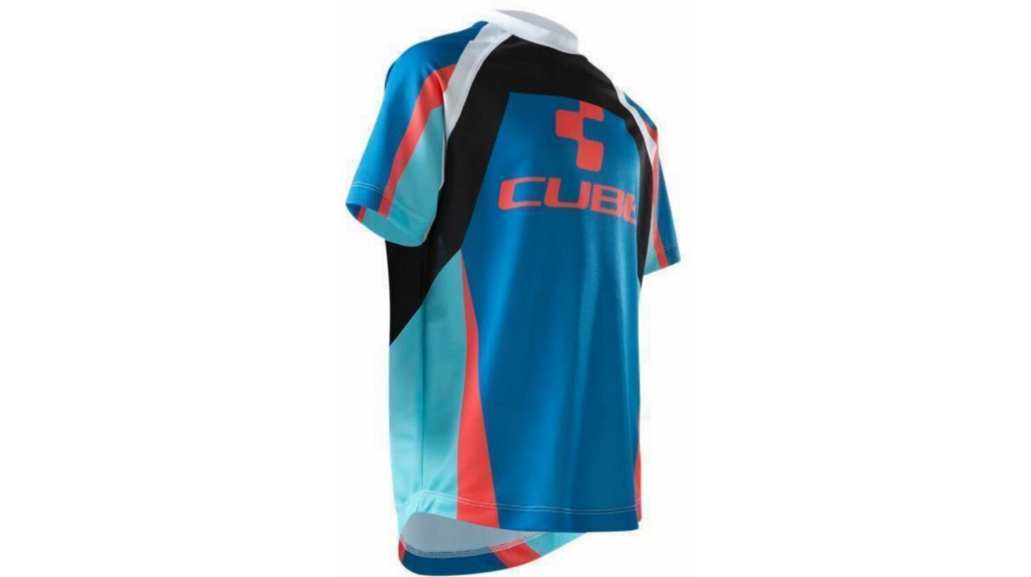 Cube JUNIOR ACTION TEAM Rundhalstrikot kurzarm blue´n´white´n´red