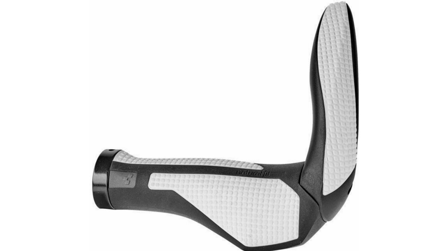 Cube NF Griffe COMFORT Bar Ends large black´n´white L
