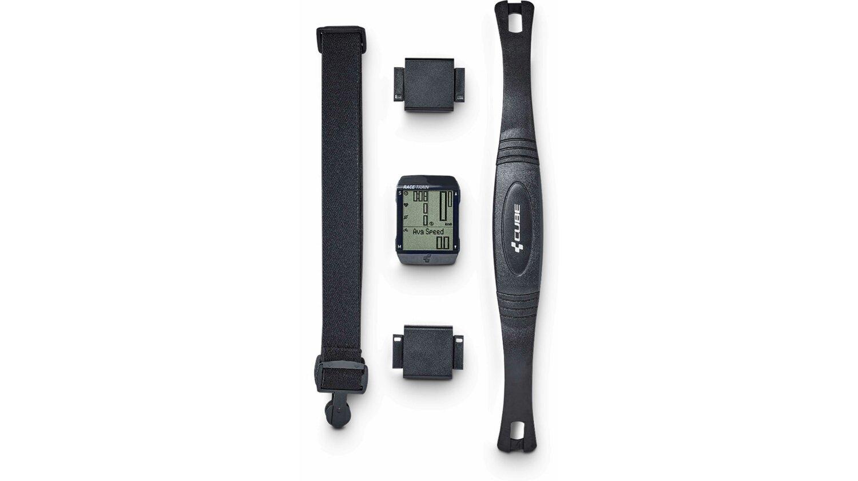 Cube Fahrradcomputer RACE TRAIN Set black´n´anthracite metallic
