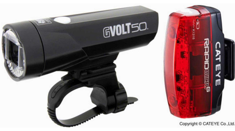 Cat Eye GVolt50 HL-EL550GRC + Rapid Micro G HL-EL620G Beleuchtungsset