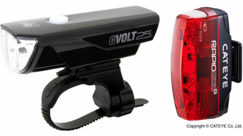 Cat Eye GVolt25 HL-EL360GRC + Rapid Micro G HL-EL620G Beleuchtungsset