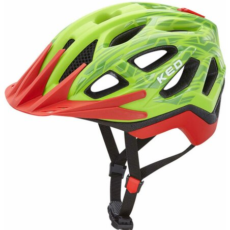 KED Pylos MTB-Helm green red matt gloss
