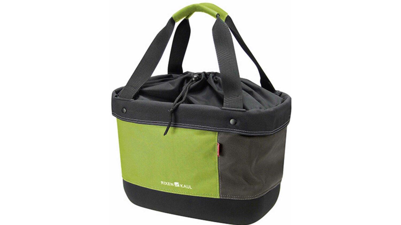 KLICKfix Shopper Alingo Lenkertasche grün/braun