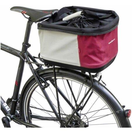 KLICKfix Shopper Alingo GT Gepäckträgertasche für Racktime rot/creme