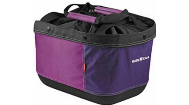 KLICKfix Shopper Alingo GT Gepäckträgertasche für Racktime Brombeer