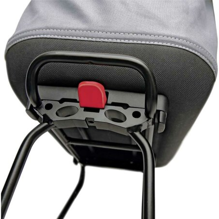 KLICKfix Shopper Alingo GT Gepäckträgertasche für Racktime grau