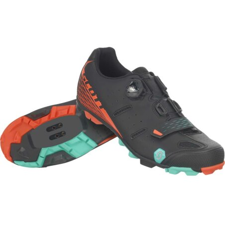 Scott MTB Elite Boa Schuh matt black/orange