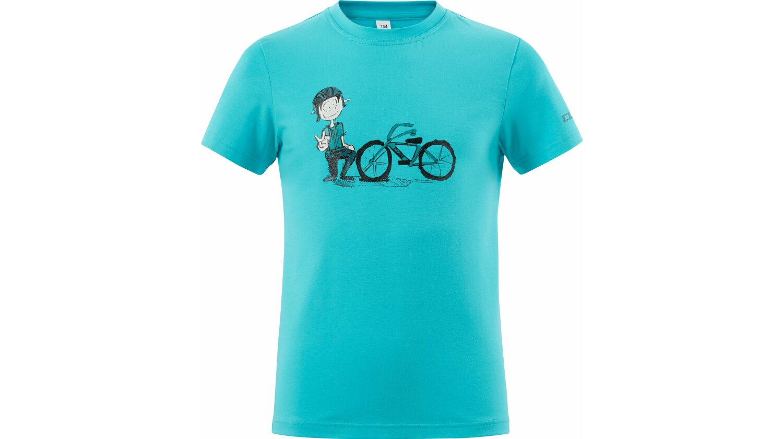CUBE JUNIOR T-Shirt André melange blue XL (146/152)