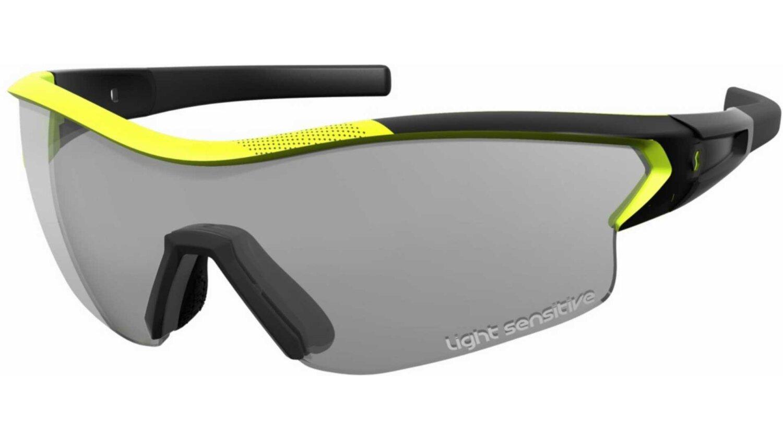 Scott Leap LS Sonnenbrille black matt/neon yellow grey light sensitive + clear