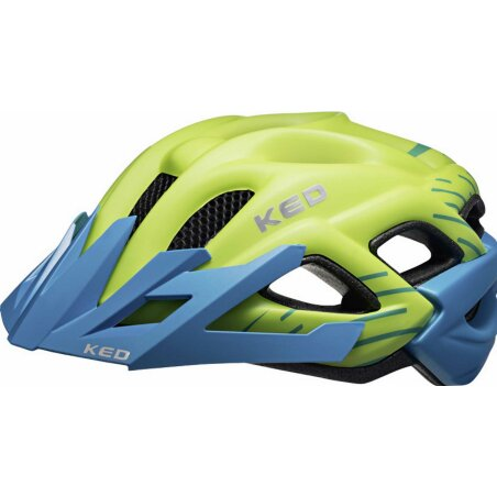 KED Status Junior Helm green blue matt