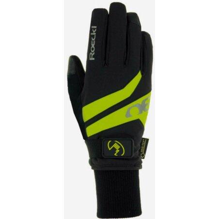 Roeckl Rocca GTX Handschuhe lang schwarz/gelb