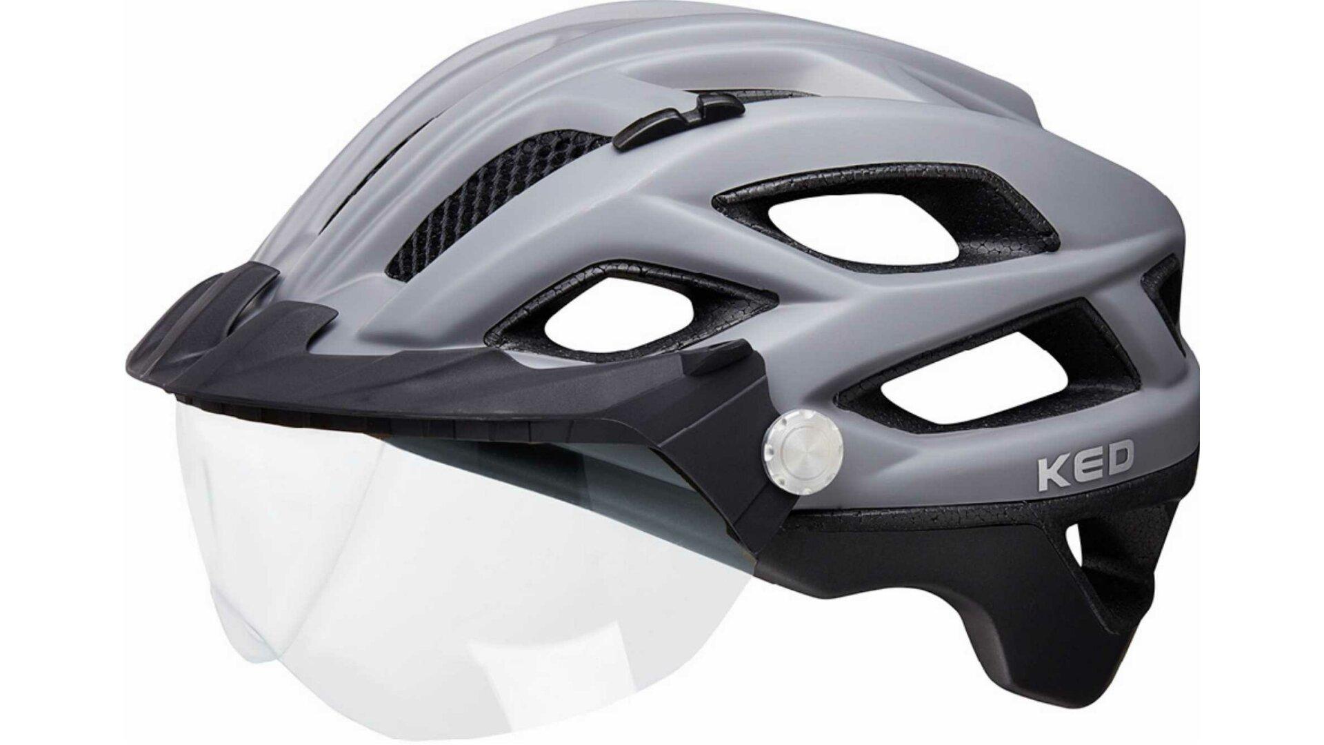 KED Covis Lite Helm Silver Black matt 2020 Fahrradhelm