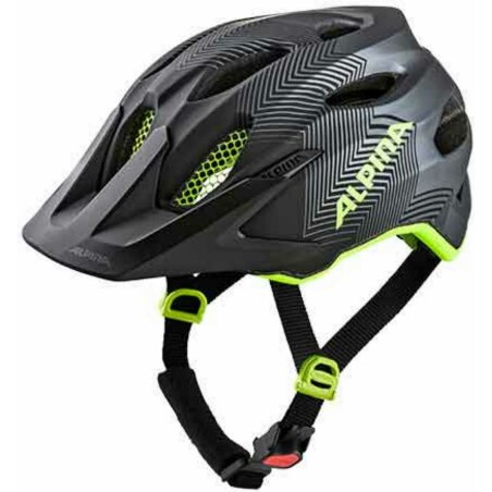 Alpina Carapax Junior Kinder-Helm black-neon-yellow 51-56 cm
