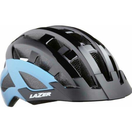 Lazer Compact DLX Helm black blue unisize/54-61 cm