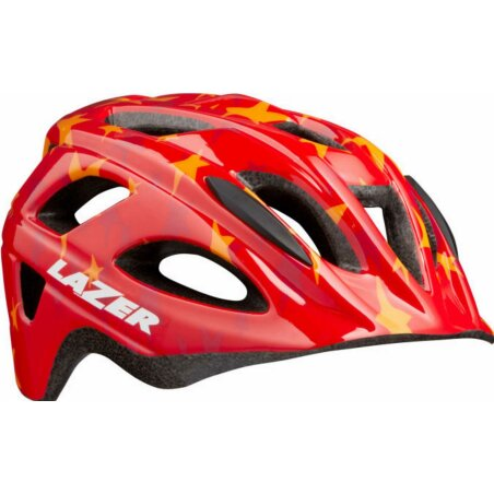 Lazer PNut + NET Kinder-Helm red stars unisize/46-50 cm
