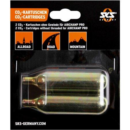SKS Airchamp CO²-Kartuschen Set ohne Gewinde 16g