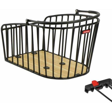 Klickfix Alumino Gt Hinterradkorb für Racktime schwarz
