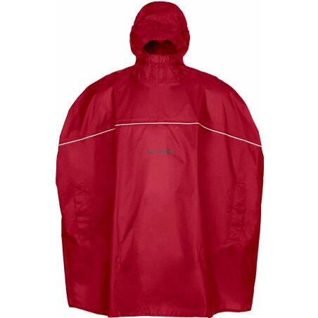VAUDE Kids Grody Poncho indian red
