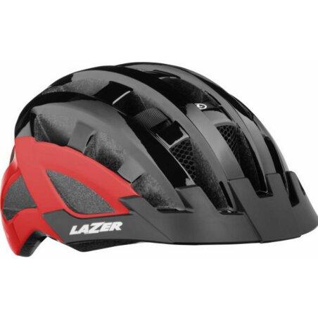 Lazer Compact DLX Helm black red unisize/54-61 cm